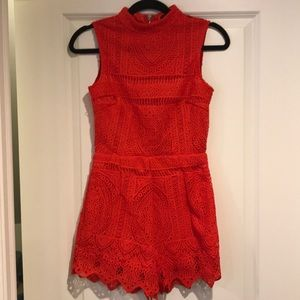 Red Misguided Romper❤️